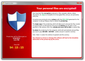 CryptoLocker Ransomware demands $300 to decrypt your files